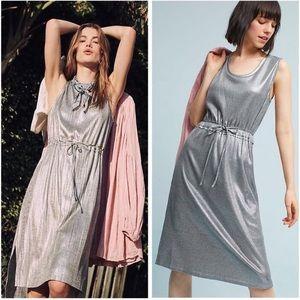 Dolan Left Coast Silver Metallic Knit Dress NWT M